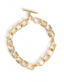 Gold Textured Chain Link Bracelet