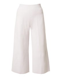 Soft Grey Milano Wool Knit Culotte Pant