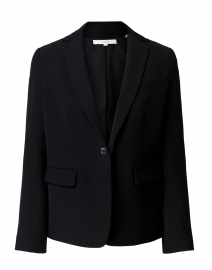 Black Soft Crepe Blazer