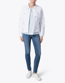 Cortland Park - White Denim Jacket