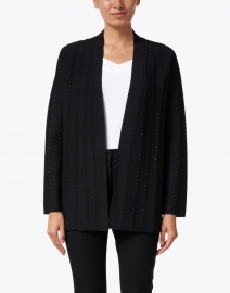 Emporio Armani - Black Brilliant Embellished Knit Cardigan