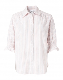 Sirena White Multi Stripe Cotton Shirt