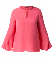 Ara Sherbert Pink Silk Blouse with Ruffle Sleeve