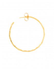 Nest - Gold Thin Hammered Hoop Earrings