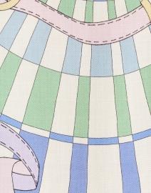 Rani Arabella - Firenze Green and Blue Cashmere Poncho