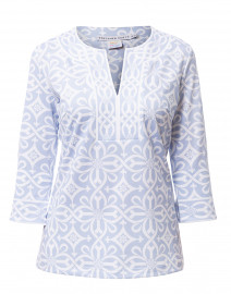 Piazza Pale Blue Printed Tunic