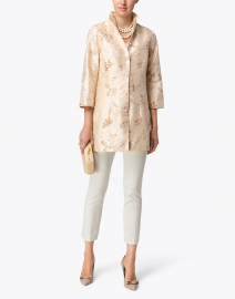 Connie Roberson - Rita Champagne Embroidered Silk Jacket