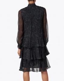 Lafayette 148 New York - Raines Blue and Black Marble Print Silk Dress