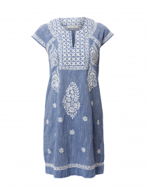 Faith Chambray Blue Cotton Dress