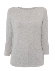 Grey Extrafine Boatneck Top