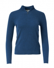 Teal Cashmere Henley Sweater