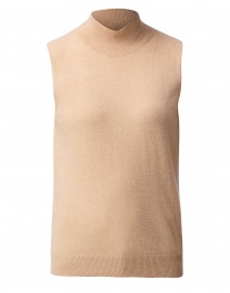 Camel Cashmere Sleeveless Sweater