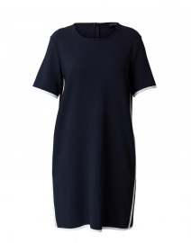 Noce Navy Dress with White Trim