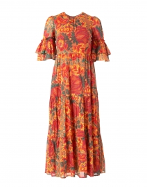 Faith Orange Floral Printed Cotton Viole Maxi Dress