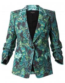 Sherene Emerald Jacquard Blazer