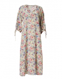 Nomad Multicolored Floral Printed Silk Dress
