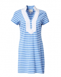 Blue and White Stripe Tunic Dress