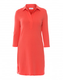 Coral Henley Bamboo-Cotton Dress
