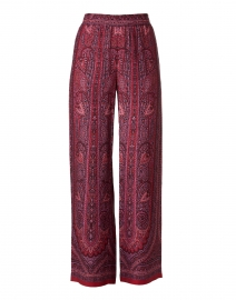 Wilco Red Multi Paisley Pull-On Pant