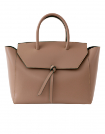 Loren Taupe Leather Tote