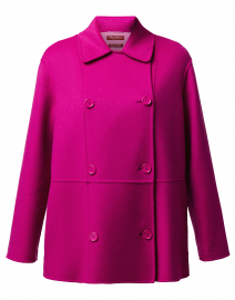 Onde Pink Double Wool Short Coat