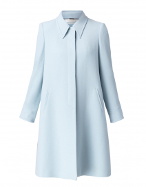 Joplin Frost Blue Wool Crepe Coat