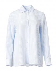 Pomez Light Blue Stripe Silk Shirt