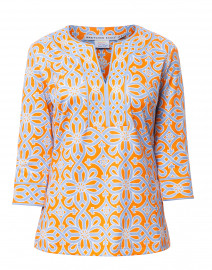 Piazza Periwinkle and Orange Printed Tunic