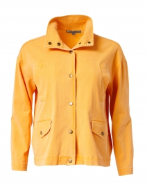 Orange Stretch Cotton Jacket