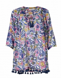 Serafina Purple, Pink and Green Floral Cotton Tunic