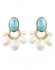 Mignonne Gavigan - Adelaide Turquoise and Pearl Drop Earrings