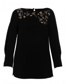 Caddie Black Embellished Crepe Blouse