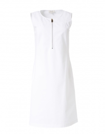 Audren White Stretch Cotton Dress