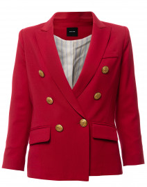 Mini Duchess Pomegranate Red Wool Blazer