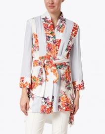 Ala von Auersperg - Margaux Bougainville Floral Printed Silk Kimono