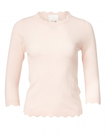 Rose Pink Scalloped Edge Sweater