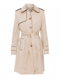 Beige Single Breasted Trench Coat
