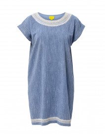 Vinita Heather Blue Cotton Dress