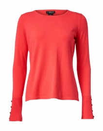 Coral Viscose Knit Sweater