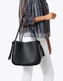 Loeffler Randall - Marine Black Pebbled Leather Tote Bag