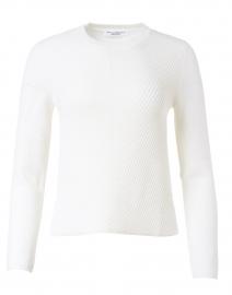 White Wool Knit Top