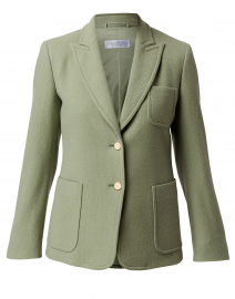 Zero Pastel Green Cashmere Blazer