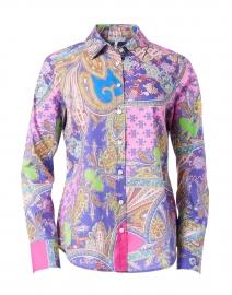 Clarice Paisley Stretch Cotton Shirt