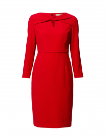 Red Cross-Over Sheath Dress