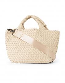 Naghedi - St. Barths Mini Solid Ecru Woven Handbag