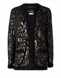 Animal Jacquard Sequin Jacket