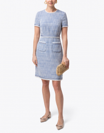 Sidney Blue Tweed Dress
