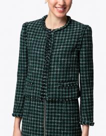 BOSS Hugo Boss - Johella Green Tweed Cropped Jacket