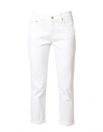 Relaxed Fit Slim White Jean