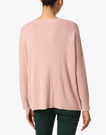 Eileen Fisher - Powder Pink Ribbed Cotton Tencel Sweater